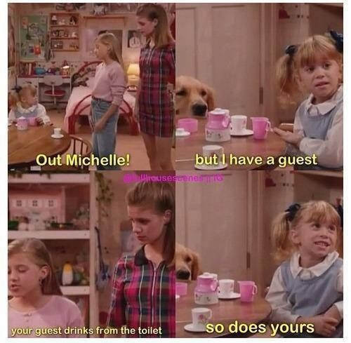 And her witty comebacks were well beyond her years. | Community Post: 21 Reasons Michelle Tanner Was The Cutest Child To Ever Grace Your TV Set