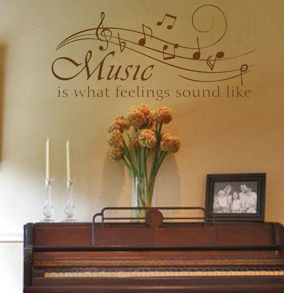 Wall Decor Sayings best 25+ music wall decor ideas on pinterest | music room