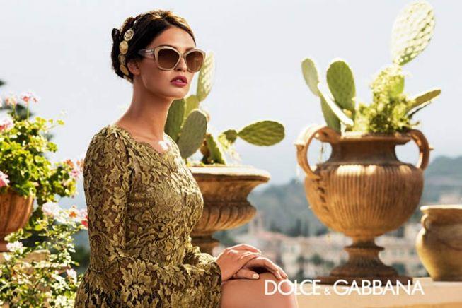 Бьянка Балти в рекламе очков Dolce & Gabbana