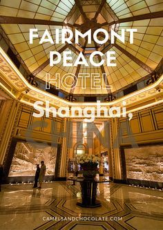 The Fairmont Peace Hotel, the grand dame of Shanghai, China, was built in 1929 and was a favorite among diplomats and celebrities back in the day (or rather, it still is). Many of the elements of this iconic hotel are the original furnishings from the 1920s, such as much of the glass and some of the wooden floors. The Fairmont Peace Hotel is a spectacular place to lay your head for a night in Shanghai.   Camels and Chocolate #shanghai #fairmont #china