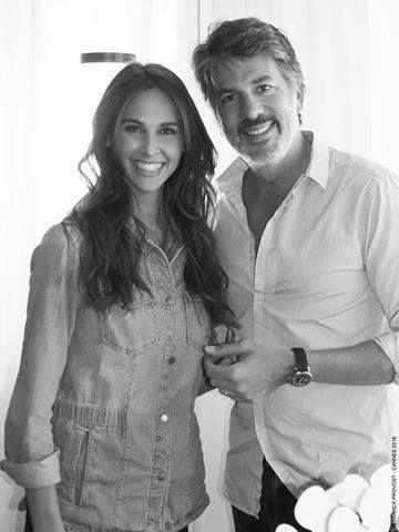 The beautiful Ophelie Meunier beside Fabien Provost #teamprovost #cannes2016 #behindthescene