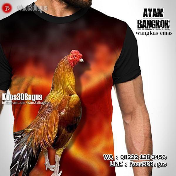 Kaos Ayam Bangkok, WANGKAS EMAS, Kaos3D, Kaos Ayam Jago, Kaos AYAM ADUAN, Kaos Ayam Emas, Kaos3DBagus, Kaos Binatang, Animal, https://instagram.com/kaos3dbagus, WA : 08222 128 3456, LINE : Kaos3DBagus