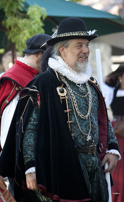 Renaissance Lord is from Renaissance Faire, Irwindale, California  Most Renaissance fairs are arranged to represent an imagined village in England during the reign of Elizabeth I, as this period has been generally considered to correspond to the flowering of the English Renaissance.