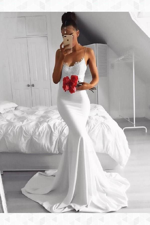 White Lace White Lace Mermaid Simp05303831 Prom Dresses 2019