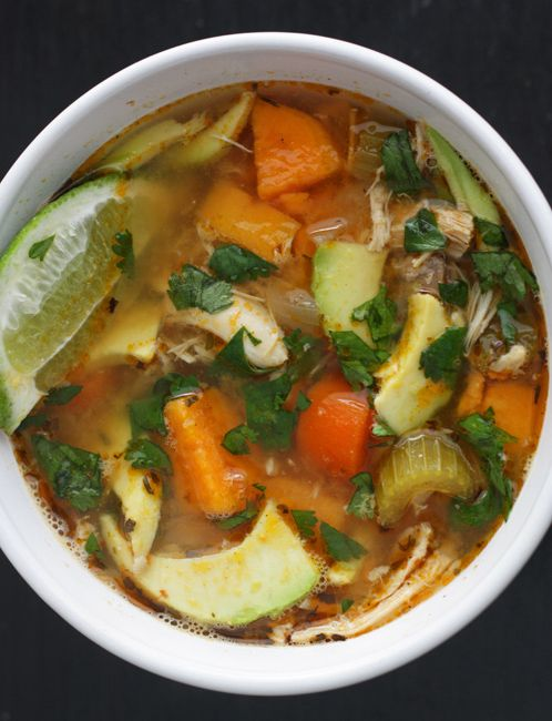 15 Spring Citrus Recipes | Spicy Yam and Lime Chicken Soup