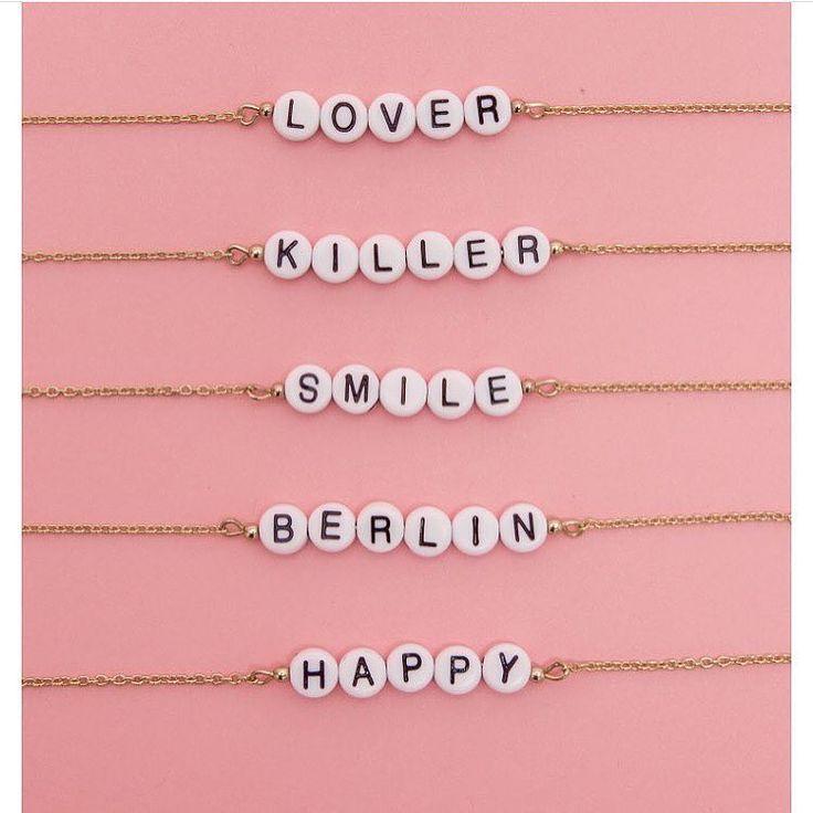DIY Armband, Bracelet, Buchstaben