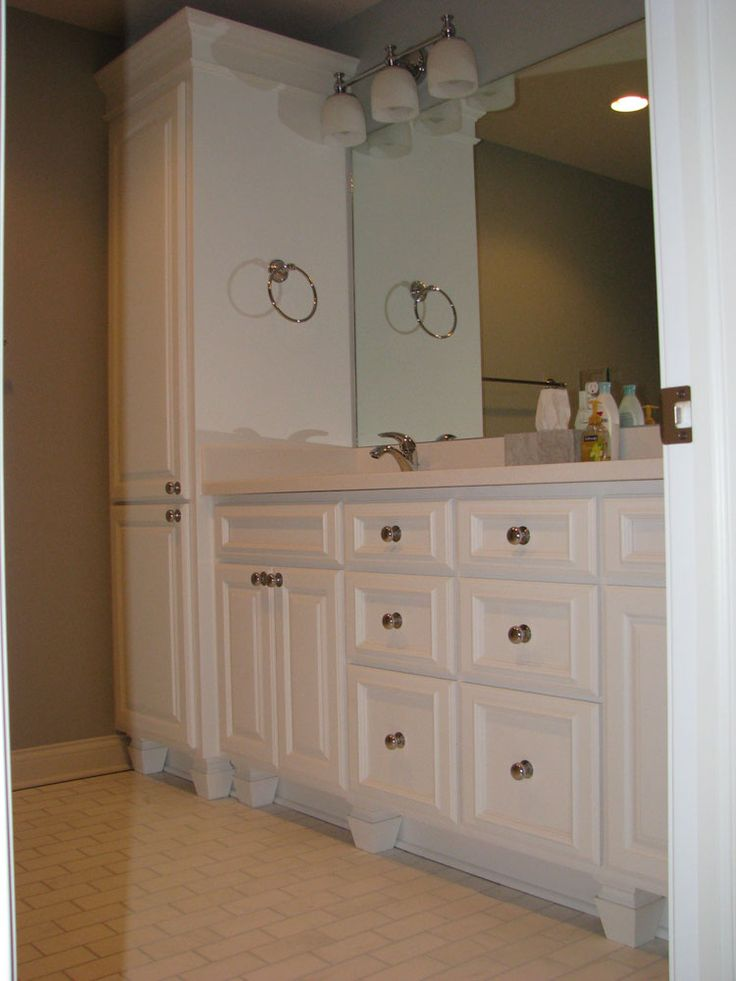 Bathroom Vanity With Linen Cabinet Bath Laundry Cabinets Ebben Custom Cabinets Furniture