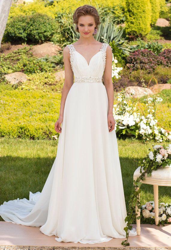 Designer Wedding Gown Bohemian Wedding Dress Beach Wedding dress Made to order