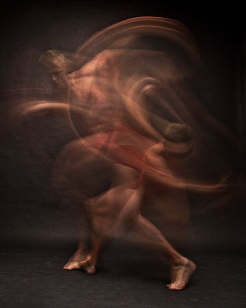 Blurred Long Exposure #Portraits Showing #Dancers in Motion #Art