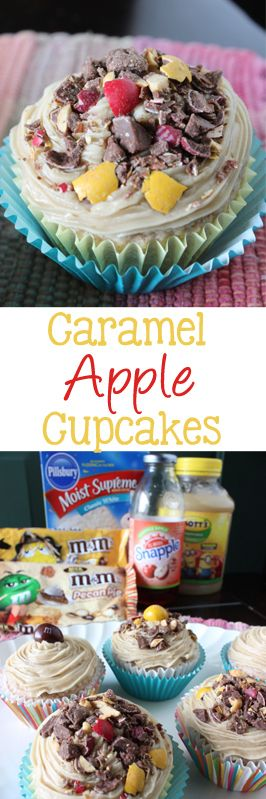 Caramel Apple Cupcakes are the perfect treat for those crisp fall days. These would make perfect bake sale items!