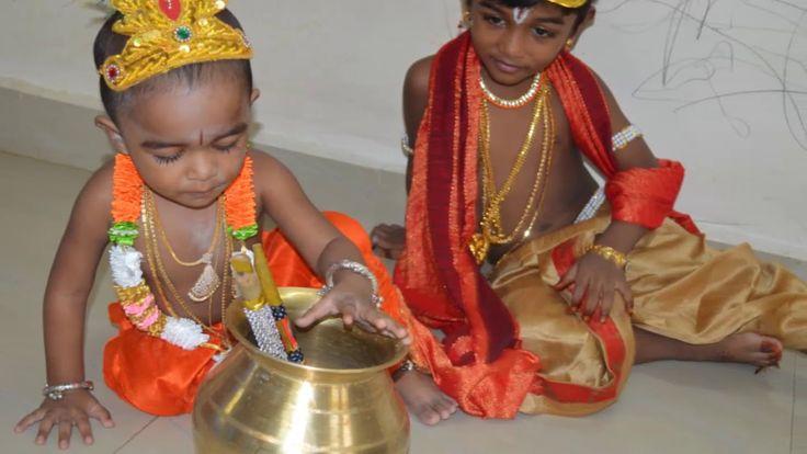 krishna jayanthi celebration with my kids in my home/enna thavam seithan...