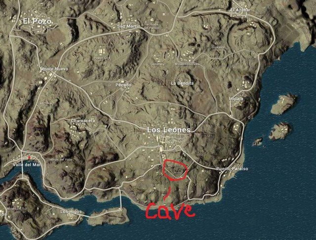 Playerunknown S Battlegrounds Cave Location In The Desert Map Miramar Desert Map Game Wallpaper Iphone Fantasy Map