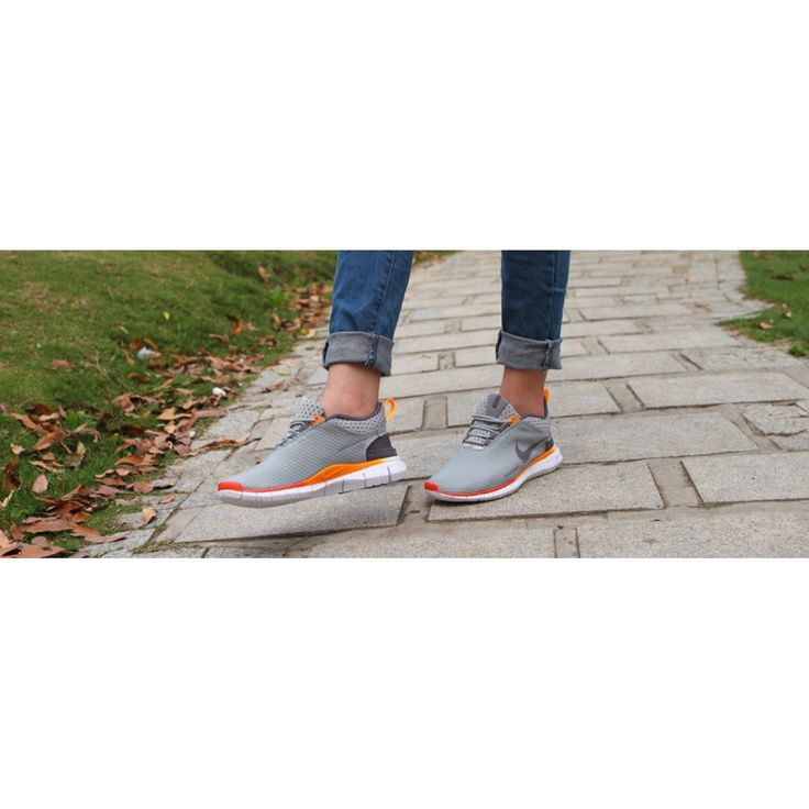 Nike Free OG Breathe Running Shoes Grey Silver Orange - Rs3,400