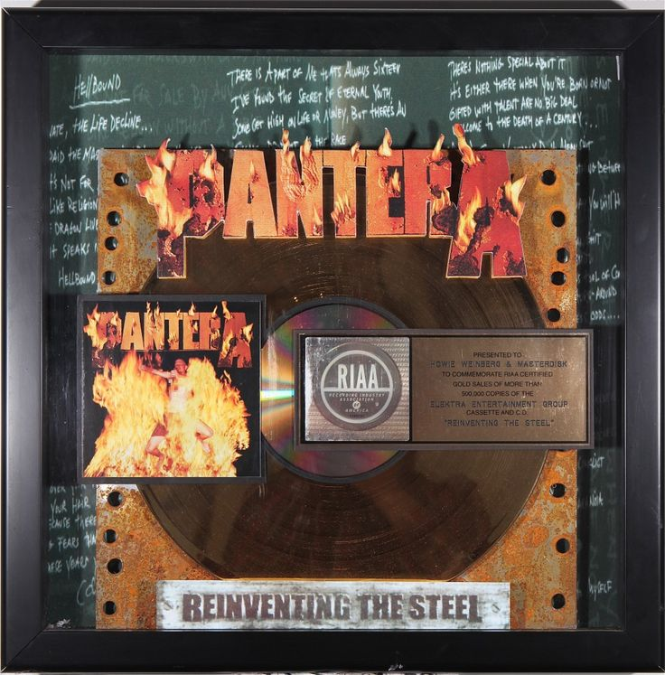 Alas. The last Pantera album. A swan song full of anthems. Revolution Is My Name. RIP Dime. #Pantera #Legends #Dimebag #goldrecord #HeavyMetal