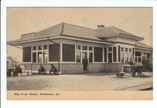 Big Four RR Train Railroad Depot Robinson