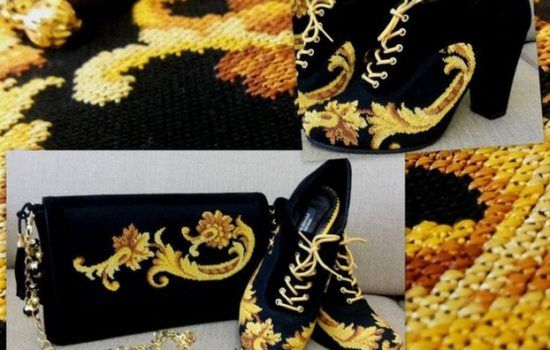 обувь вышитая крестиком