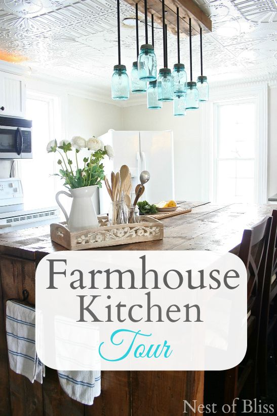 Farmhouse Kitchen Tour - Before and After #Diy Budget #Kitchen Transformation