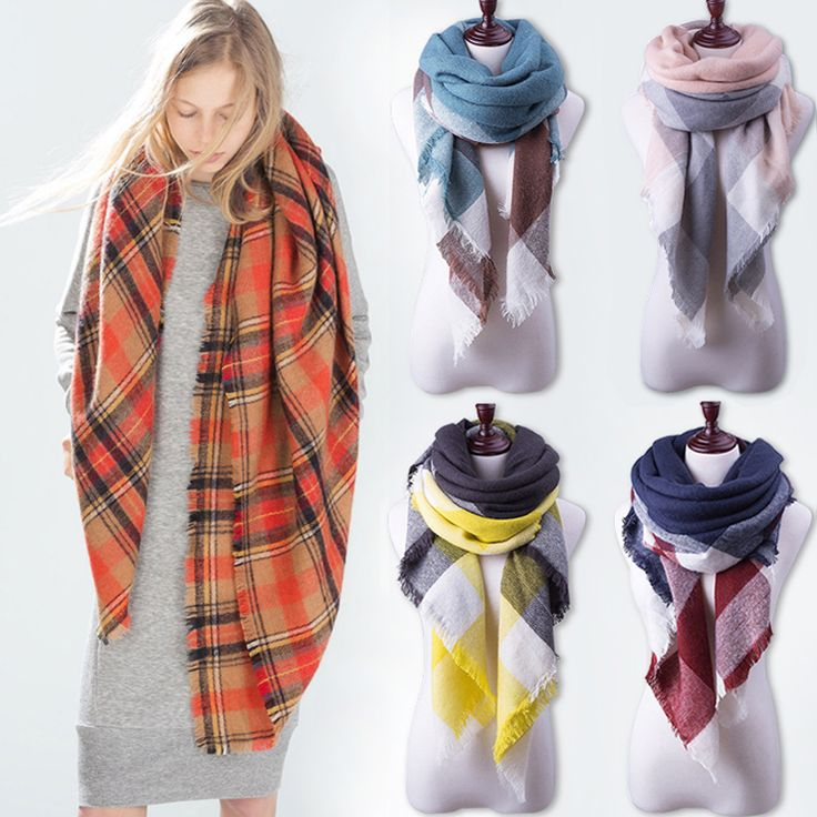 Soft Za Plaid Large Warm Winter Scarf For Women Scarf Women Blanket Shawls Cashmere Scarf Scarves Pashmina Luxury Brand //Price: $13.99 & FREE Shipping //     #accessories #necklaces #pendants #earrings #rings #bracelets
