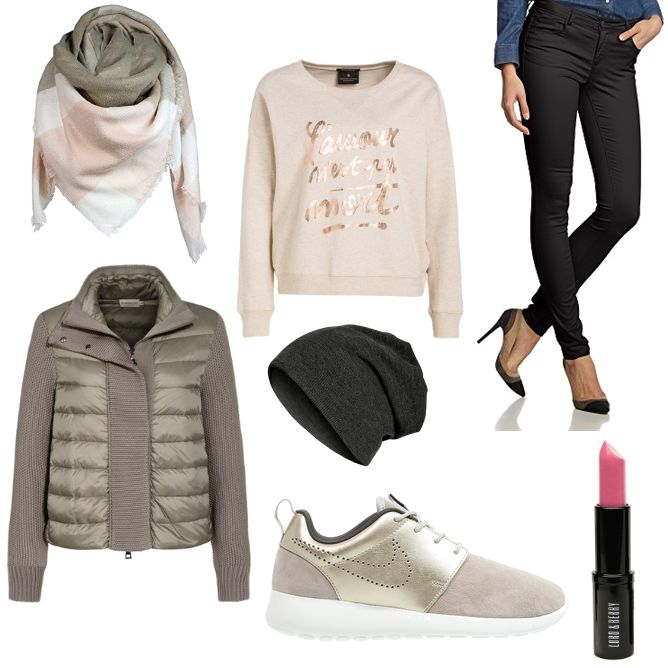 OneOutfitPerDay 2016-01-09 - #ootd #outfit #fashion #oneoutfitperday #fashionblogger #fashionbloggerde #frauenoutfit #herbstoutfit - Frauen Outfit Frühlings Outfit Herbst Outfit Outfit des Tages Winter Outfit Daunenjacke G&X Topstyle Hose Lord & Berry Maison Scotch Masterdis Moncler Nike Sportwear ONLY Skinny Sneaker Sweatshirt Winterjacke