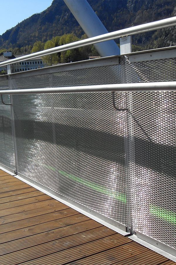 Balustrade Metal Mesh Screen External Staircase