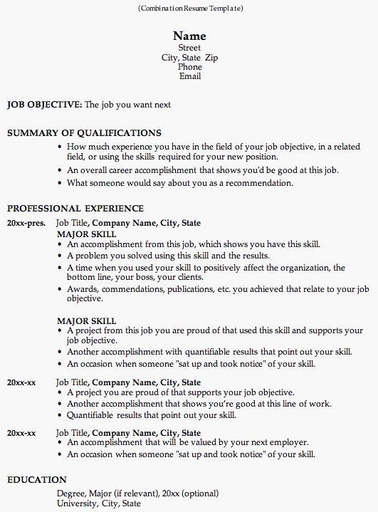 take a look at this combination resume template to see why employers like it so much this resume format is great for career change and work history - Microsoft Word Resume Template 2013
