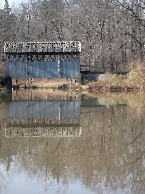 bad poets club: Covered bridge, Petrolia, Ontario.