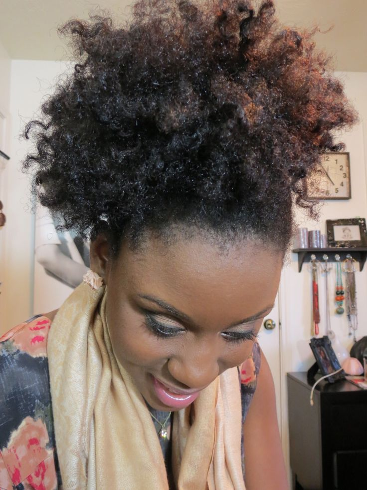 natural hair puff ideas