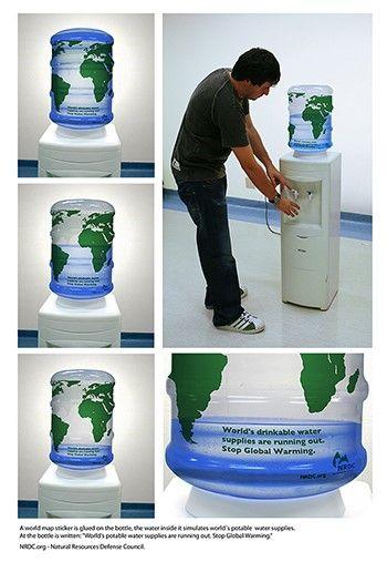 Nudge design - save water (NRDC)