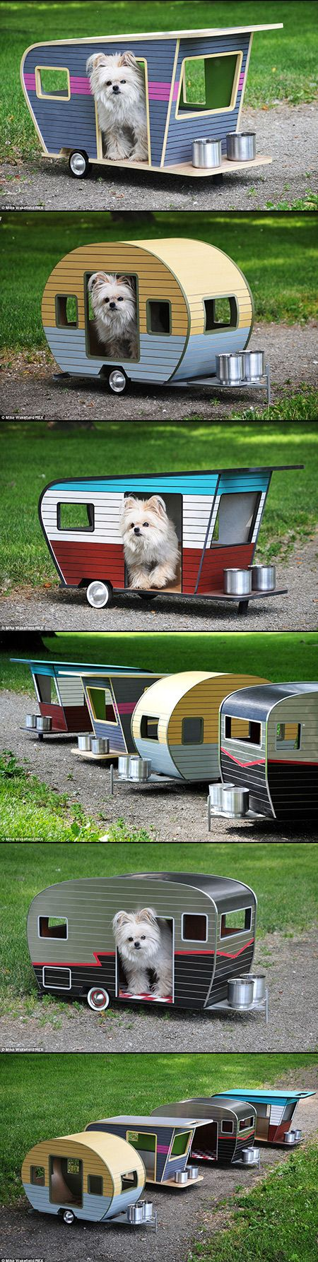 Pet Camper for Dogs Looks Like a Miniature Caravan, Complete with License Plate - TechEBlog
