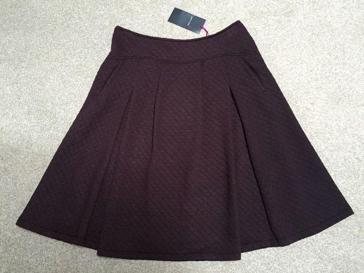 "M&S PER UNA Ladies Skirt UK16 EU44 Length about 27"" or 69cm BNWT RRP£45 DkClaret"