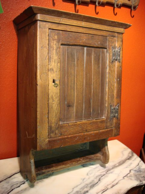 Antique French Rustic Medicine Cabinet Wall Cabinet