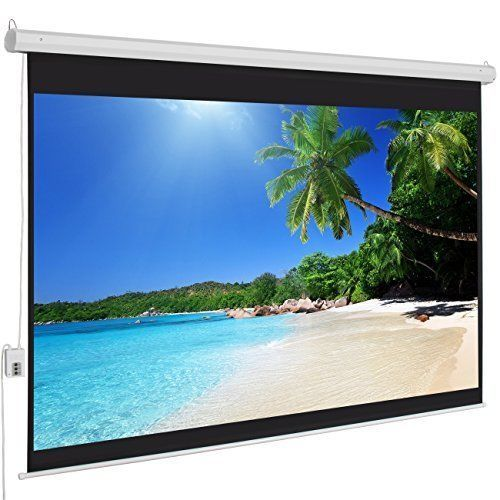 Projection Screen Motorized Electric Auto HD 100 Inch 4:3 Display Movie Video Tv #TechIdeas