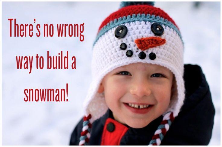 Free Pattern: Crochet Snowman Hat