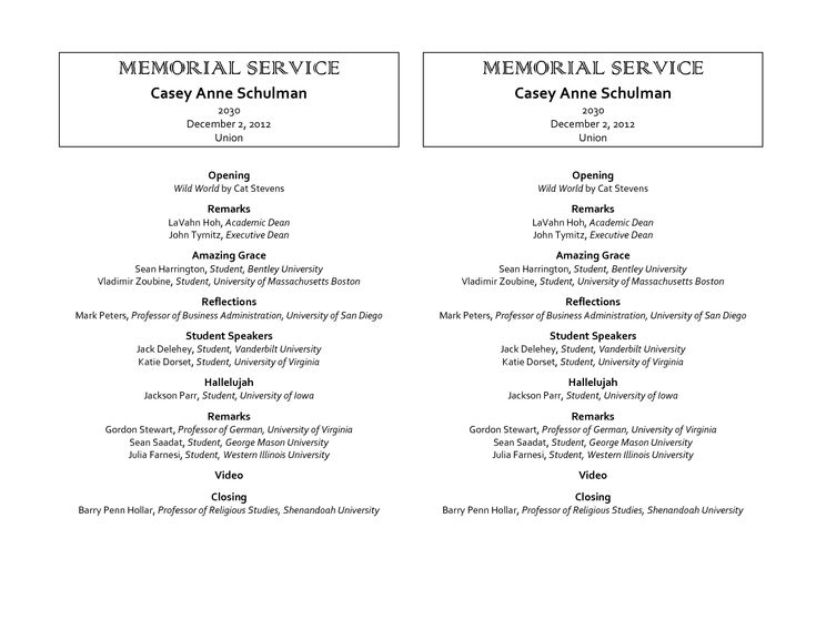 64 best MEMORIAL LEGACY & PROGRAM TEMPLATES images on Pinterest