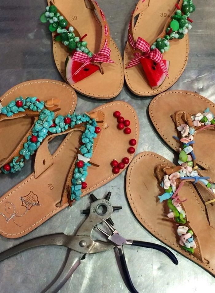 handmade sandals - Greek leather