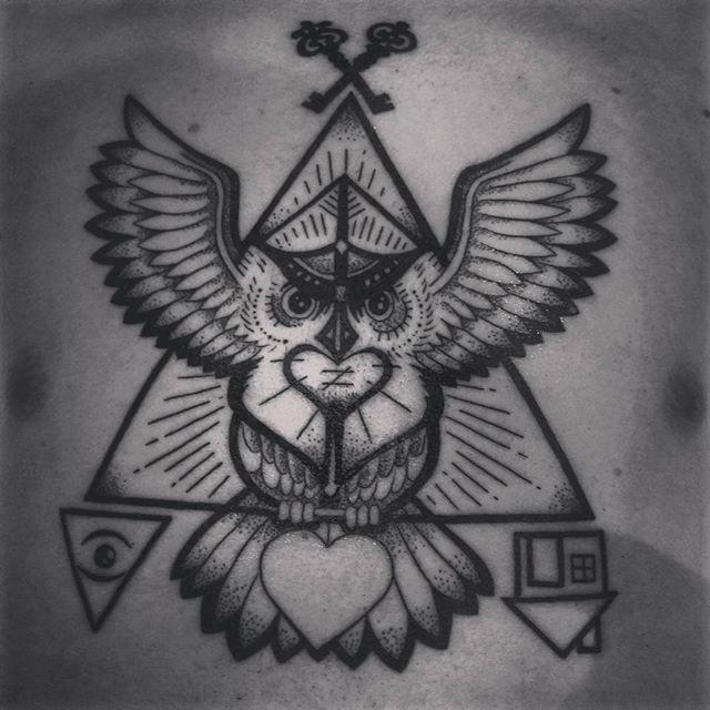 #btattooing #tattoo #chest #painful #inked. Merci Reno !! Merci M studio !!.