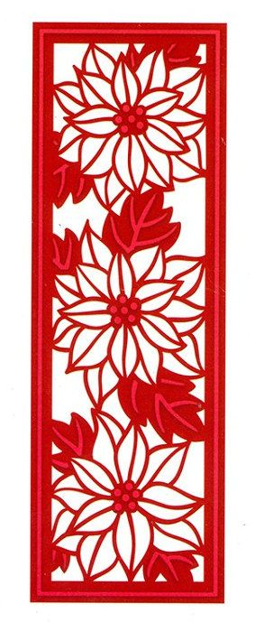 Creative Expressions Sue Wilson Die -Festive Collection- Poinsettia Mini Striplet - CED3037 by PNWCrafts on Etsy