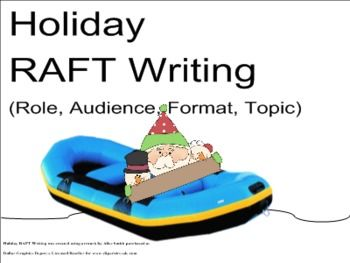 raft task 2 Students can utilize this printout to organize their writing as they learn to use the raft strategy this printout enables students to clearly.