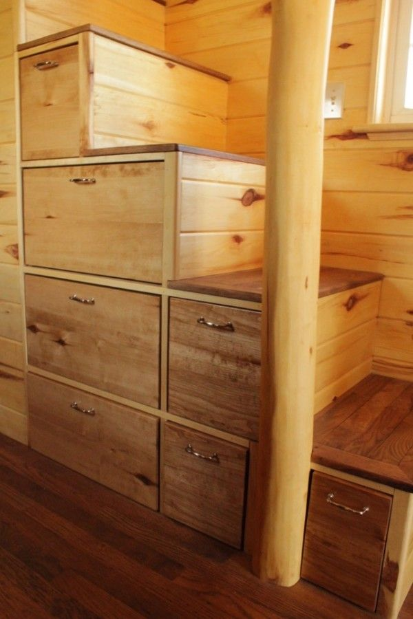 25 best ideas about tiny house on wheels stairs on pinterest house on wheels tiny house on - Stairs that are drawers ...