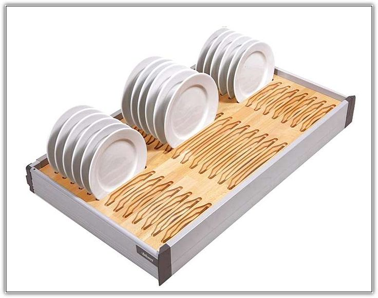 Kitchen Drawer Plate Organizer