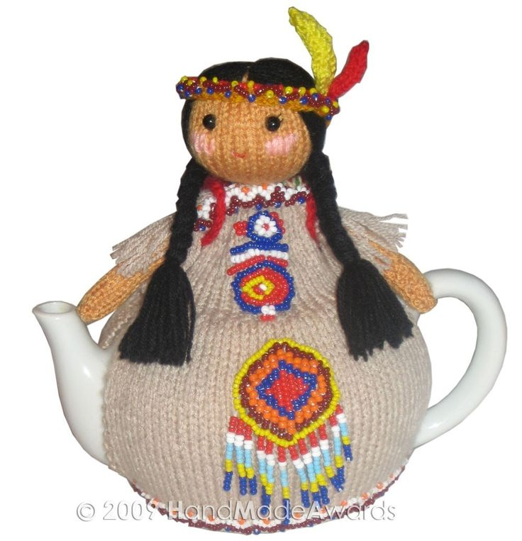 Native American INDIAN with BABY Tea Cosy pdf Email Knit PATTERN. $4.50, via Etsy.