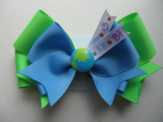 The Scientist  Back to School Hairbow by RuLuDesigns on Etsy, $6.00