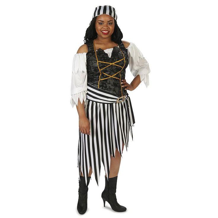 Plus Size Adult Plus Pretty Pirate Princess Costume, Size: 1XL, Multicolor