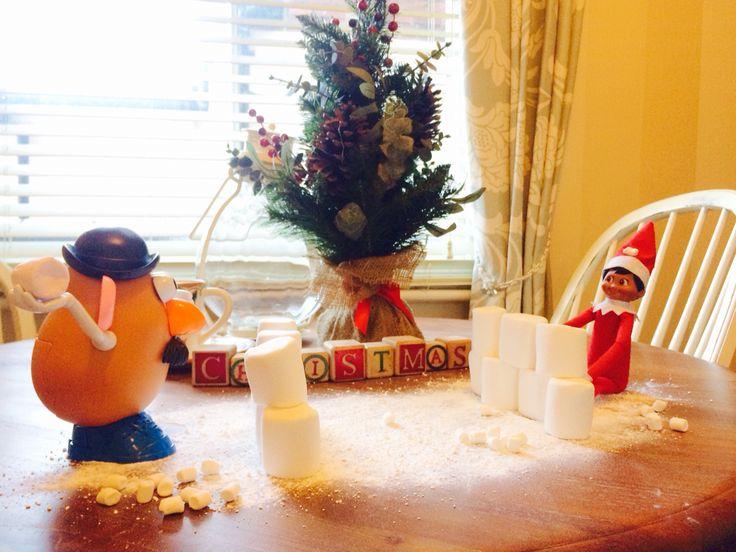 Elf on the shelf, Snowball fight
