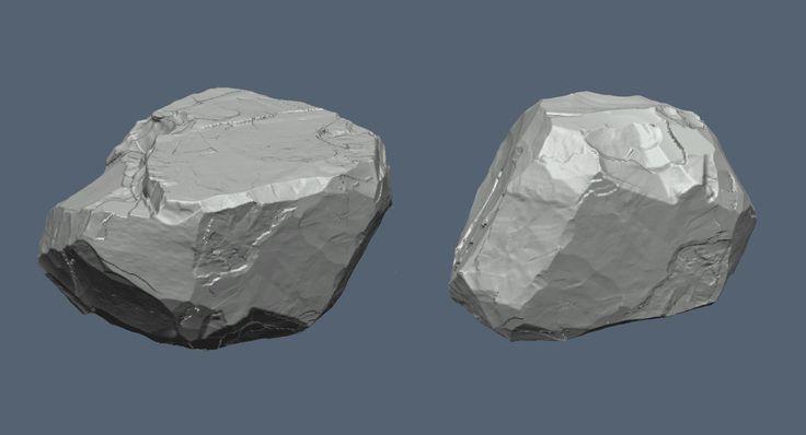 ArtStation - Rock Sculpting, Justin Owens