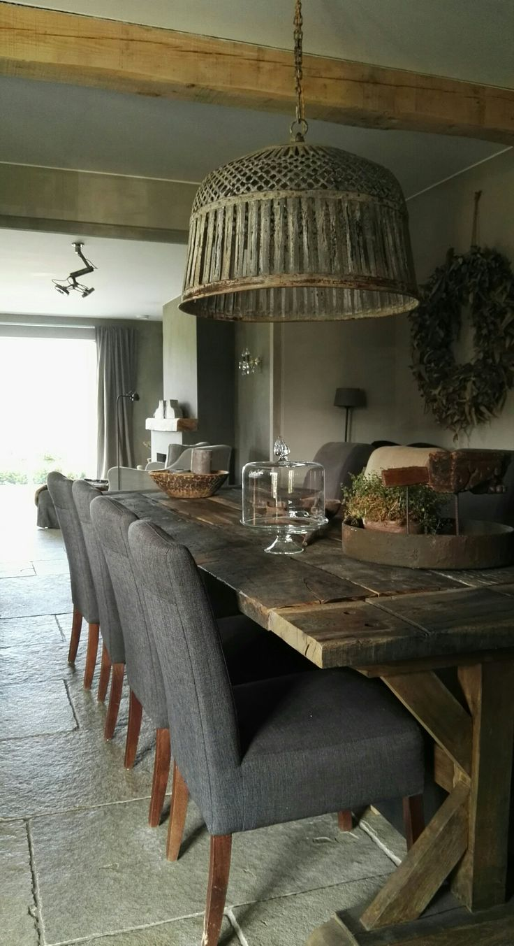 I love the long table in our family kitchen