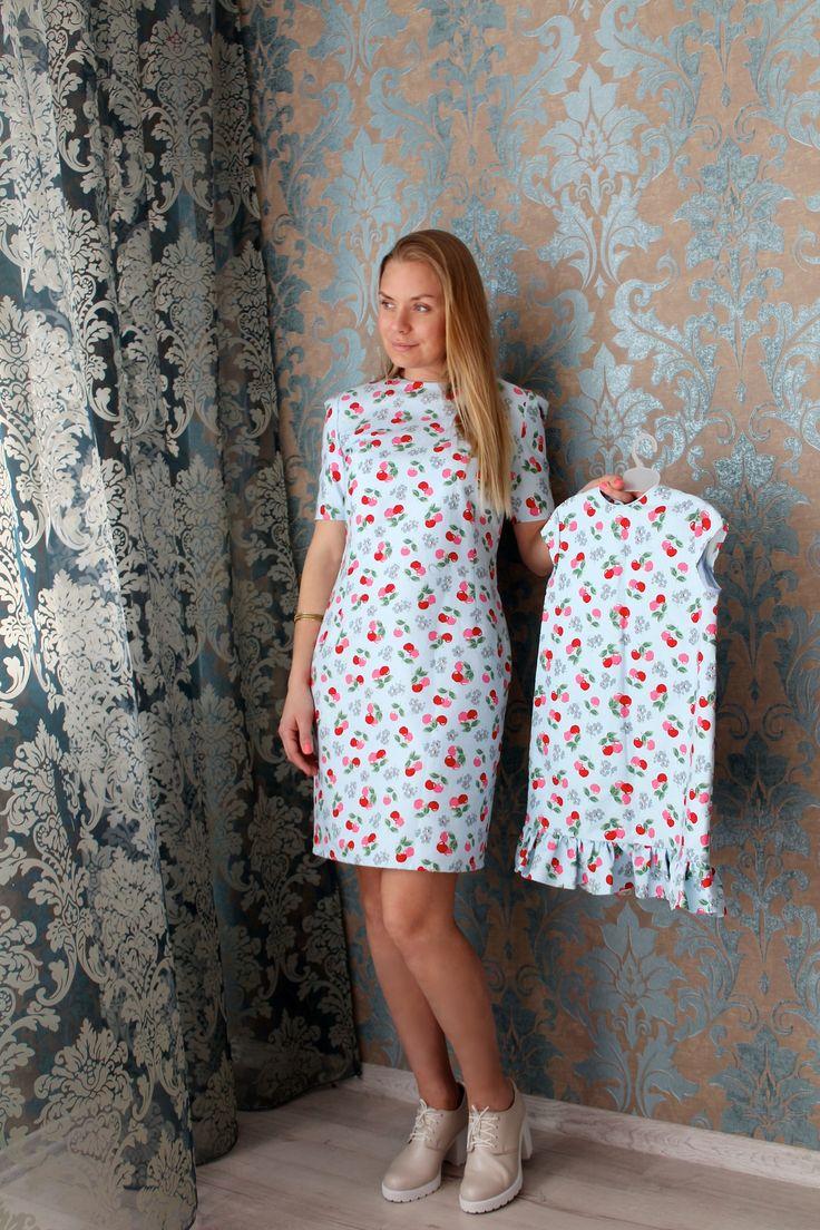 """Dasti - Женское летнее платье с вишенками прямое """"Ницца"""""""