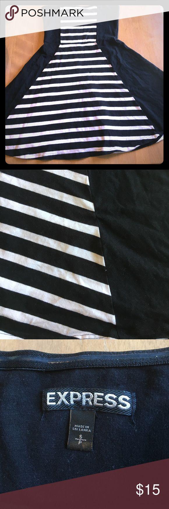 Cute Express black and white mini dress Super fun black and white striped mini dress from Express Express Dresses