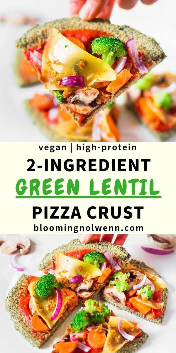 Pizza de corteza de lentejas | Vegano, sin gluten