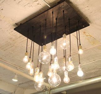 urbanchandy on etsy Handmade industrial chandelier has urban feel. Made from rescued